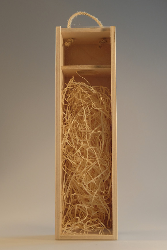 Dřevěná krabice s plexisklem 1 láhev