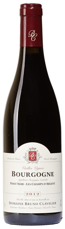 Domaine Bruno Clavelier, Bourgogne Pinot Noir AOC, 2012