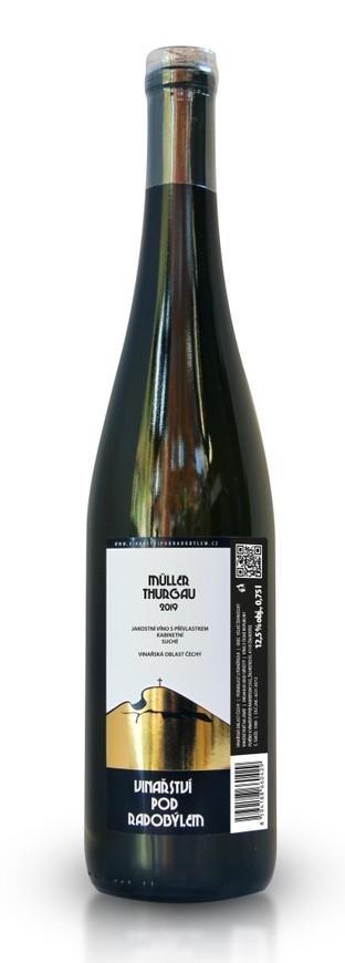 Vinařství Pod Radobýlem, Müller Thurgau, 2019