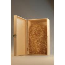 Dřevěná krabice s panty 2 láhve