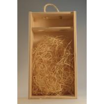 Dřevěná krabice s plexisklem 2 láhve