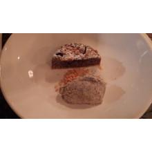 Švestkovo - makový koláč s makovým sorbetem a Forto